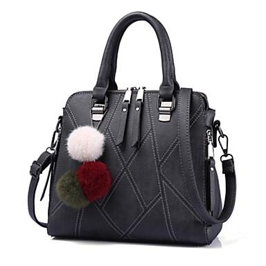 Women's Bags PU Tote for Outdoor / Office & Career Purple / Light Gray / Dark Grey
