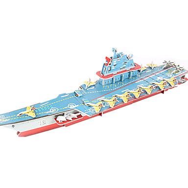 3D Puzzles Model Building Kit Warship Aircraft Carrier Ship DIY High Quality Paper Classic 6 Years Old and Above
