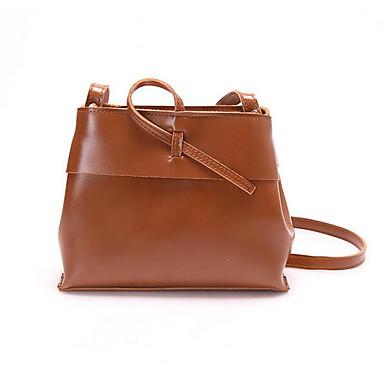 Women Shoulder Bag PU All Seasons Casual Outdoor Round Zipper Black Brown Wine