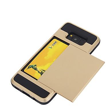 Capinha Para Samsung Galaxy S8 Plus S8 Porta-Cartão Capa traseira Côr Sólida Macia TPU para S8 Plus S8
