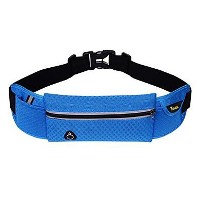 <20 L Waist Bag / Waistpack - Scratch-resistant, Waterproof Zipper, Multifunctional Outdoor Camping / Hiking, Recreational Cycling, Leisure Sports Terylene Black, Orange, Red
