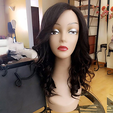 Remy Human Hair Lace Front Wig Loose Wave 130% Density 100% Hand Tied African American Wig Natural Hairline Short Medium Long Women's