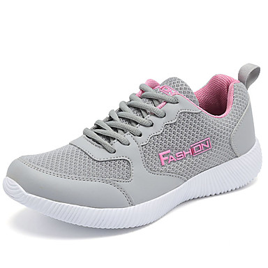 Women's Athletic Shoes Comfort Spring Fall PU Outdoor Black Army Green Blushing Pink Flat