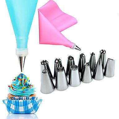 Bakeware eszközök Rozsdamentes acél Esküvő / Születésnap / Valentin nap Cake Sütő és tészta eszközök 14pcs