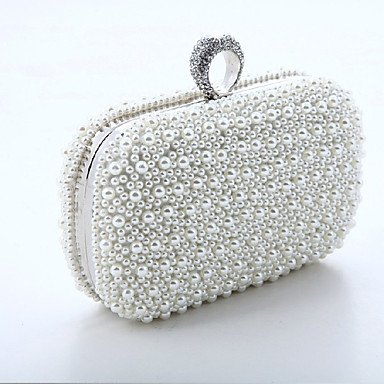 Women Bags Special Material Evening Bag Rhinestone Chain Mini Spot for Wedding Event/Party Formal All Seasons White Blushing Pink