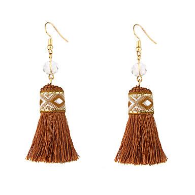 Women's Luxury Tassel Bohemian Drop Earrings - Luxury Dangling Style Tassel Bohemian Adjustable Stretch Purple Coffee Geometric Earrings