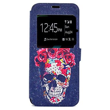 Capinha Para Samsung Galaxy S8 Plus S8 Porta-Cartão Com Suporte Estampada Capa Proteção Completa Caveiras Rígida PU Leather para S8 Plus