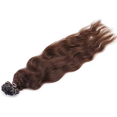 Fusion / U Tip Human Hair Extensions Natural Wave Human Hair Extensions Women's