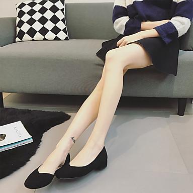 Naiset Mokkasiinit Comfort PU Kevät Kausaliteetti Comfort Musta Pinkki Khaki Tasapohja