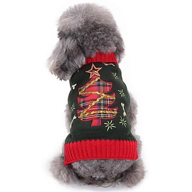 Cachorro Fantasias Roupas para Cães Natal Fantasias Floral/Botânico Ocasiões Especiais Para animais de estimação