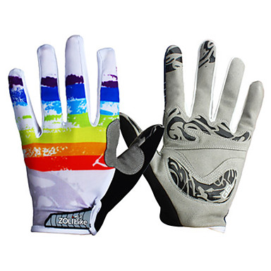 Sports Gloves Unisex Cycling Gloves Spring Summer Bike Gloves Wearable Breathable Protective Durable Sweat-Wicking Full-finger Gloves
