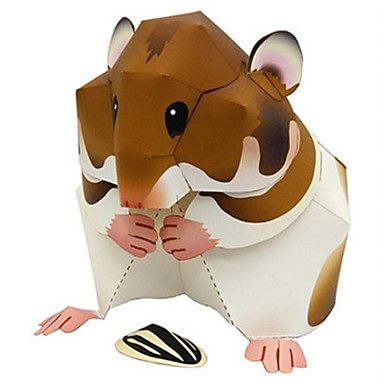 voordelige 3D-puzzels-3D-puzzels Bouwplaat Modelbouwsets Hamster Dieren DHZ Hard Kaart Paper Klassiek Kinderen Unisex Jongens Speeltjes Geschenk