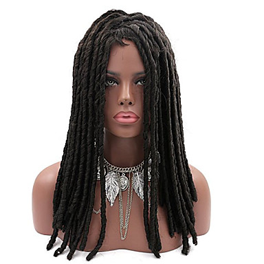 Synthetic Wig Straight Synthetic Hair African American Wig / Braided Wig / African Braids Black / Brown Wig Women's Long Capless