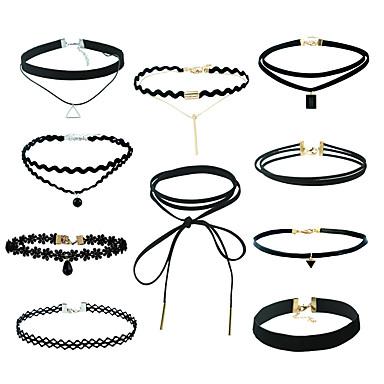 Women's Jewelry Set Jewelry Set / Pendant Necklace / Black Choker - Lace Black