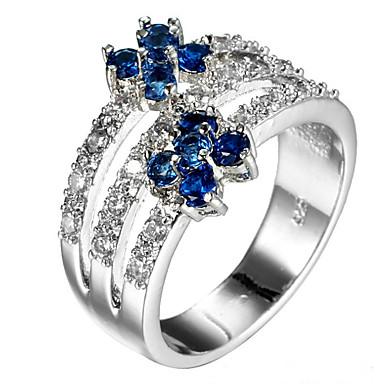 Women's Ring Settings Ring Band Ring Cubic Zirconia Rhinestone Personalized Floral Luxury Unique Design Classic Rhinestone Basic British