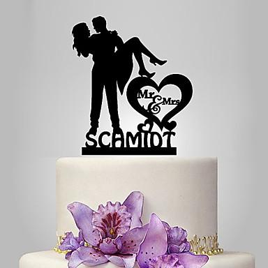 Kakkukoristeet Klassinen pari Häät Klassinen teema Romantiikka Wedding Muovipussi