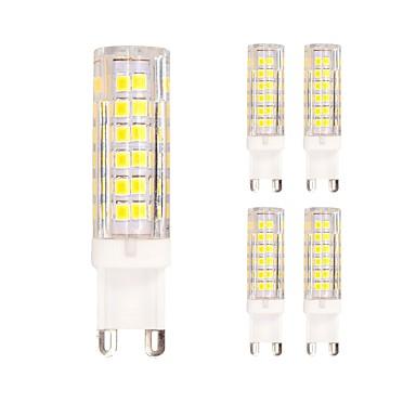 5pçs 4.5W 400 lm G9 Luminárias de LED  Duplo-Pin T 75 leds SMD 2835 Branco Quente Branco Frio AC 220-240V