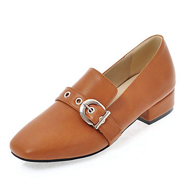 Women's Loafers & Slip-Ons Gladiator Fall Leatherette Casual Dress Flat Heel Black Beige Brown Blushing Pink 2in-2 3/4in