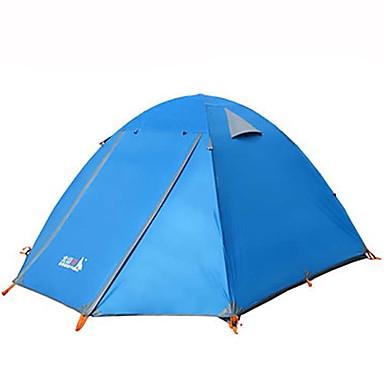 BSwolf 3-4 személy Sátor Kétrétegű kemping sátor Külső Vízálló, Porbiztos, Összecsukható mert Kempingezés és túrázás >3000 mm Terylene, Alumínium