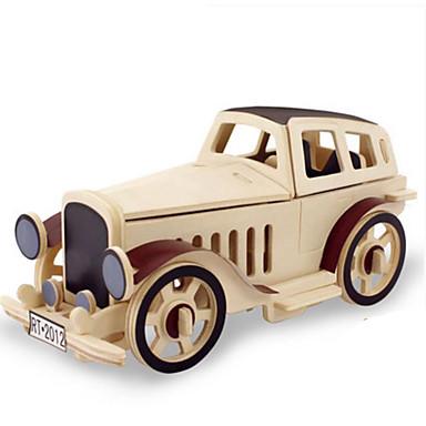 Toy Car 3D Puzzle Jigsaw Puzzle Wood Model Dinosaur Tank Plane / Aircraft Car Animals DIY Wood Classic Kid's Unisex Gift