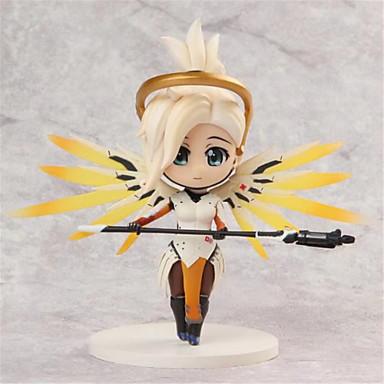 Anime Toimintahahmot Innoittamana Overwatch Cosplay PVC 10cm CM Malli lelut Doll Toy Miesten Naisten