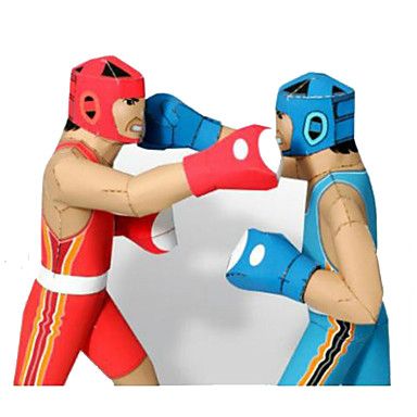 Quebra-Cabeças 3D Maquetes de Papel Brinquedos de Montar Esportes Boxe Faça Você Mesmo Concorrência Cartão de Papel Duro Clássico Crianças Unisexo Para Meninos Brinquedos Dom