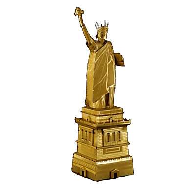 3D Puzzles Jigsaw Puzzle Metal Puzzles Model Building Kit Architecture Statue Of Liberty DIY Chrome Metal Classic Kid's Adults' Girls'