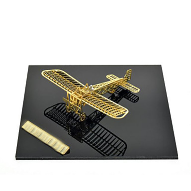 3D Puzzles Metal Puzzles Model Building Kits Plane / Aircraft 3D DIY Chrome Metal Classic 6 Years Old and Above