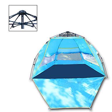 رخيصةأون مفارش و خيم و كانوبي-4 شخص أوتوماتيكي الخيمة في الهواء الطلق مكتشف الأمطار التخييم والتنزه الأشعة فوق البنفسجية مقاوم طبقة واحدة خيمة التخييم 1000-1500 mm إلى التخييم والتنزه البوليستر قماش التفتا