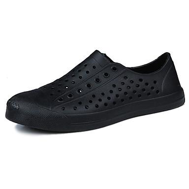 Homens sapatos Borracha Verão Conforto Sandálias para Ao ar livre Branco Preto Amarelo Vermelho Verde