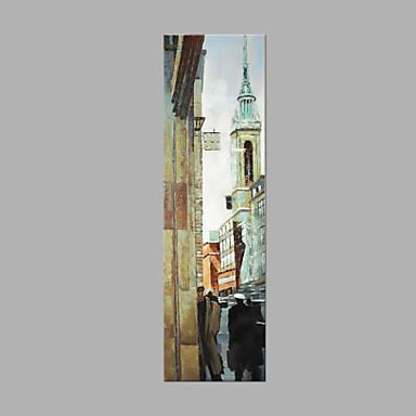 Pintura a Óleo Pintados à mão - Paisagem Artistíco Abstracto Tela de pintura