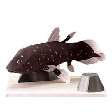 3D Puzzles Paper Model Paper Craft Model Building Kit Fish Animals Simulation DIY Hard Card Paper Classic Kid's Unisex Gift