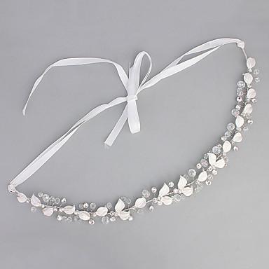 Pedraria & Cristal / Tule / Acrílico Headbands / Peça para Cabeça com Cristais / Penas 1 Casamento / Ocasião Especial / Housewarming Capacete
