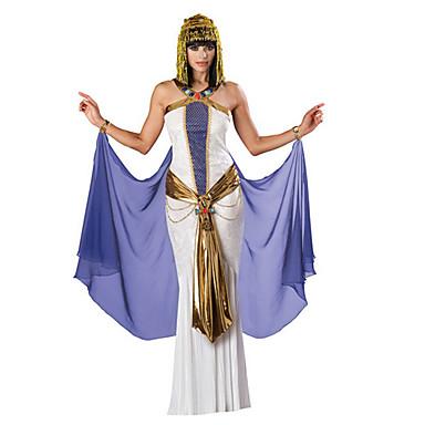 Egyiptomi kosztümök Királynő Kleopátra Szerepjáték Jelmezek Jelmez Bulikra Álarcosbál Női Mindszentek napja Farsang Fesztivál / ünnepek Mindszentek napi kösztümök ruhák Fehér Régies (Vintage) Az