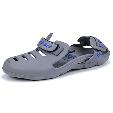 Men's PU(Polyurethane) Summer Comfort Sandals Black / Gray / Blue