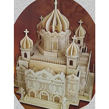 3D építőjátékok / Fejtörő / Wood Model Templom / A Megváltó Krisztus katedrálisa tettetés / DIY Fa Klasszikus Gyermek / Felnőttek Uniszex