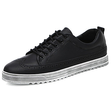 Men's Shoes PU Spring Fall Comfort Oxfords for Outdoor Black Green