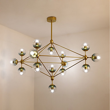 Sputnik Chandelier Ambient Light - Mini Style, 110-120V / 220-240V Bulb Not Included / 40-50㎡ / E26 / E27