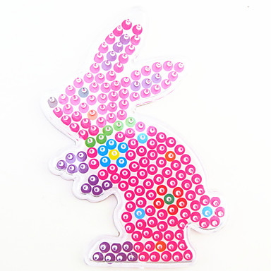 1PCS 5MM Fuse Beads Clear Template Pegboard Stencil Rabbit Shape Hama Perler Beads Pegboard Kid DIY Handmaking Educational Craft Toy Jigsaw Puzzle