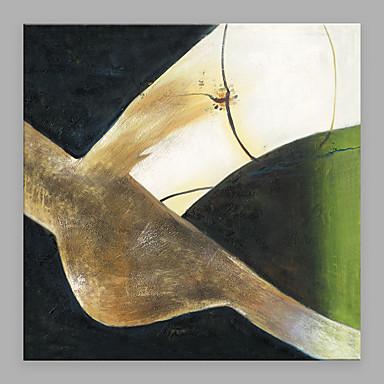 Maalattu Abstrakti Neliö, Moderni/nykyaikainen Kangas Hang-Painted öljymaalaus Kodinsisustus 1 paneeli