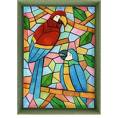 3D Puzzles Paper Craft Parrot Rectangle DIY Classic Unisex Gift
