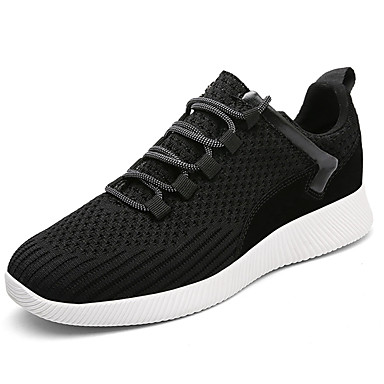 Miesten kengät PU Kevät Syksy Comfort Urheilukengät Jouksu varten ulko- Musta Harmaa