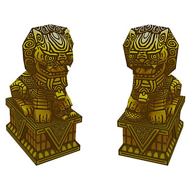 voordelige 3D-puzzels-3D-puzzels Bouwplaat Modelbouwsets Leeuw DHZ Simulatie Klassiek Unisex Speeltjes Geschenk