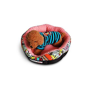 Dog Bed Pet Mats & Pads Geometric Cartoon Warm Soft Beige Blue Pink For Pets