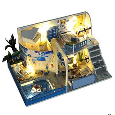 Lysende leker Modellsett Leketøy GDS LED Lys Hus Villa Plastikker 1 Deler Unisex Valentinsdag Bursdag Gave