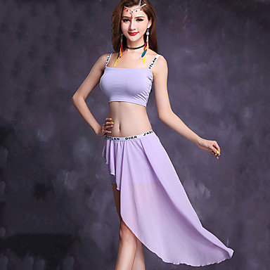 Belly Dance Outfits Women's Performance Modal Chiffon Sleeveless Natural Skirts Top