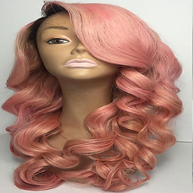 Human Hair Full Lace Wig Body Wave 130% Density 100% Hand Tied African American Wig Natural Hairline Ombre Hair Short Medium Long Women's