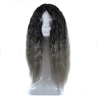 Synthetic Wig Synthetic Hair Black Wig Women's Medium Length / Long Capless