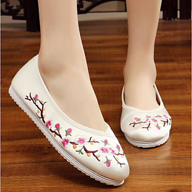 Women's Flats Fabric Flat Practice Beige Red Blushing Pink