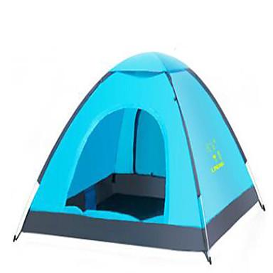 2 henkilöä Teltta teltta Automaattinen teltta Pidä lämpimänä Ultraviolettisäteilyn kestävä varten Retkeily ja vaellus Elastinen satiini CM
